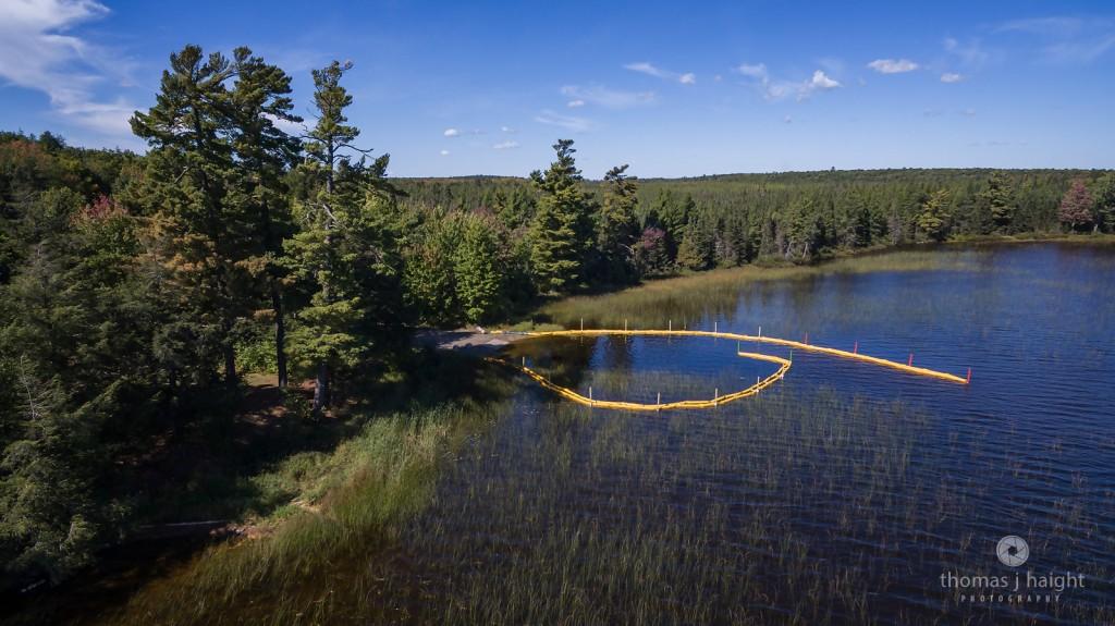 Aquatic Invasive Species (AIS) Containment System at Perch Lake